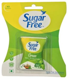 Sugar Free 100% Natural Sweetener & Sugar Substitute Made From Stevia Green (40 Pellets)