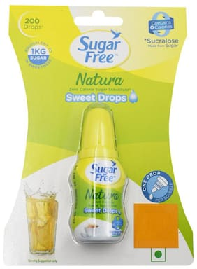 Sugar free Zero Calorie Sweetener & Sugar Substitute - Liquid Drops - Natura 10 ml