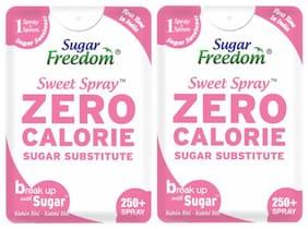 Sugar Freedom Zero Calorie Sweetener (Sugar Substitutes) 250 Servings 15 ml (Pack of 2)