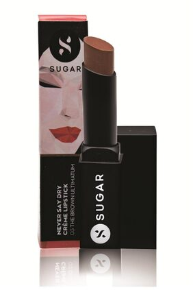 Sugar Cosmetics Never Say Dry Cr Me Lipstick - 03 The Brown Ultimatum (Nude Brown)