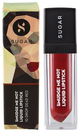Sugar Cosmetics Smudge Me Not Liquid Lipstick - 10 Drop Dead Red (Red)