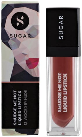 Sugar Cosmetics Smudge Me Not Liquid Lipstick - 13 Wooed By Nude (Peach Nude)