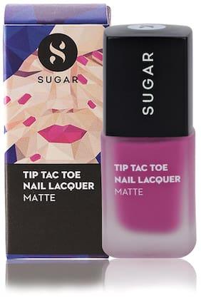 Sugar Cosmetics Tip Tac Toe Nail Lacquer - 032 Mary Poppins (Matte Fuchsia)