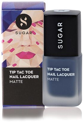 Sugar Cosmetics Tip Tac Toe Nail Lacquer - 026 Beat The Blues (Matte Dusty Blue)