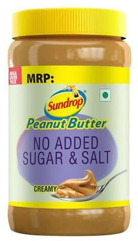 Sundrop Peanut Butter - Creamy, No Added Sugar & Salt 924 g