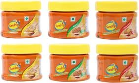 Sundrop Peanut Butter (Creamy, Crunchy, Honey Roast) 100g (Pack of 6)