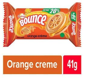 Sunfeast Bounce Biscuits - Orange Creme Cookies 41 g
