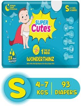 Super Cute's Wonder Thinz Pant Style Ultra Premium Diaper For 2X Absorption - S (93 pcs)