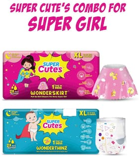 Super Cute's Combo for Super Girl - Extra Large  30  pcs (Combo of 2)