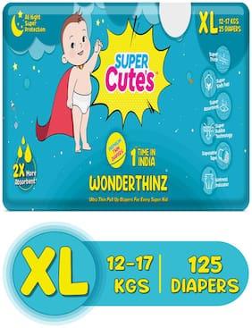 Super Cute's Wonder Thinz Pant Style Ultra Premium Diaper For 2X Absorption - XL (125 pcs)