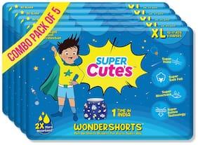 Super Cute's Wonder Shorts for Boys Pant Style Premium Diaper with Disposable Shorts - XL (10 pcs)