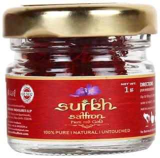 Surkh Saffron Premium Pack ( Pure Kesar ) 1 g Pack of 1