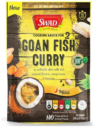 Swad Goan Fish Curry Sauce 250 g (Pack of 1)