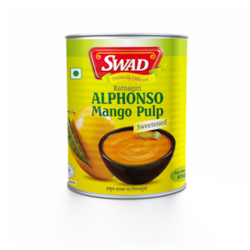 SWAD Natural Alphonso Pure Mango Pulp with no Added Preservative 850 g