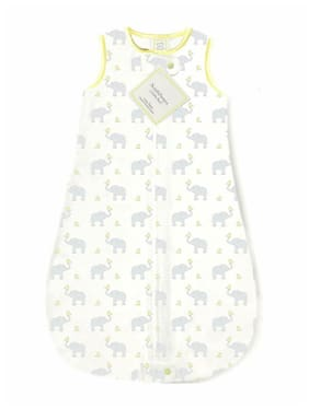 SwaddleDesigns Cotton Sleeping Sack with 2-Way Zipper Yellow 3-6 Months