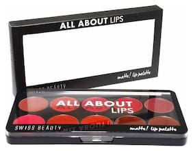 Swiss Beauty Lip All About Matte Longlasting Lipstick Palette Sb-210(1) Multi Color-10g