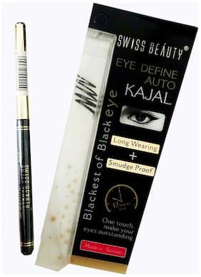 Swiss Beauty Eye Define Auto Kajal Blackest of Black eye 0.35 g Pack of 1