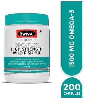 Swisse Ultiboost HS Odrls Wild Fish Oil 1500Mg 200 Capsules