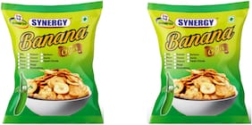 Synergy banana chips 250 gm masala, 250 gm maggi (Pack of 2)