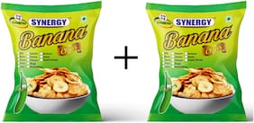 Synergy Banana Chips (Salty+ Salty ) Flavour - 250gm (Pack of 2)