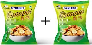 Synergy Banana Chips (Pudina+ Kalimiri Flavour 250gm x 2 = 500gm)