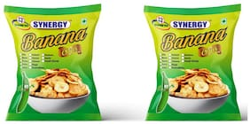 Synergy Banana Chips (Cheese+ Cheese Flavour 250gm (Pack of 2)