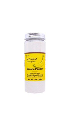Tassyam Banana Powder 200g Bottle  Vegan & Natural