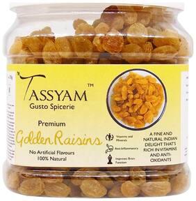 Tassyam Golden Raisins 700g | Healthy Juicy Jumbo Indian Kishmish Jar