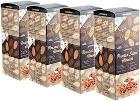 Tassyam Premium Roasted Salted Almonds 1Kg (4x 250g ) Namkeen Badaam Giri   Healthy Dry Fruits Luxury Box by Tassyam