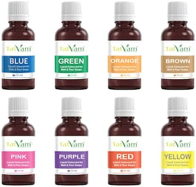 Tatvam DIY Making Colours for Melt and Pour Soaps (10 ml Each) Pack of 8