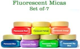 Tatvam DIY Soap Making Colourful Mica [A] Colorant Powders 15gm (Pack of 7)