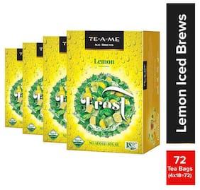 TE-A-ME Ice Brews Lemon Tea 18 Pyramid Tea Bags ( Pack of 4 )