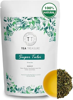 TeaTreasure Super Tulsi Green Tea - 100 g