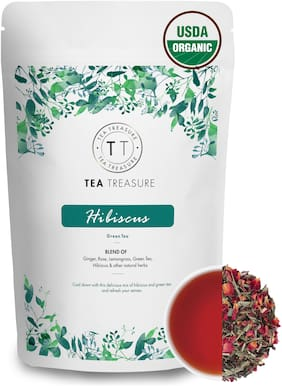 TeaTreasure Hibiscus Green Tea - 50 g