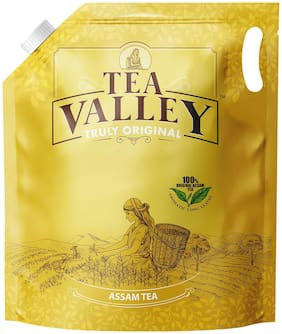 Tea Valley Truly Original;100% Assam CTC Tea with Aromatic Long Leaf-1kg