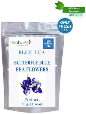 Teahues Blue Butterfly Pea Flower Tea, Zero Caffeine Rich in Anti-Oxidant-Pack of 1 ( 50 g)