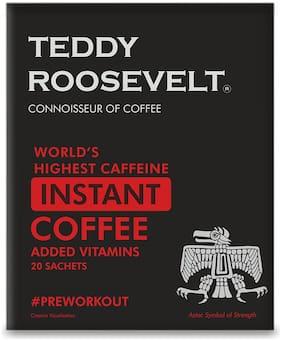 TeddyRoosevelt Coffee High Caffeine Instant Coffee Added Vitamins 50g