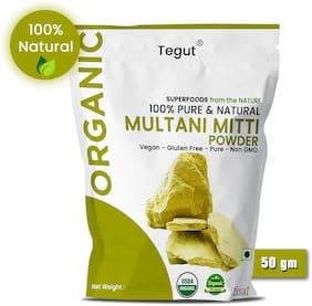 Tegut Organic Multani Mitti Powder (Bentonite clay) 50g (Pack of 1)