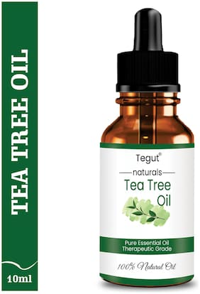 Tegut Tea Tree Essential Oil For Skin Hair Face Acne Care Pure Natural And Undiluted Therapeutic Grade Essential Oil (10 ml) (Pack of 1)