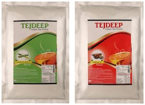 Tejdeep Instant Tea & Chai Powder Premix  Masala & Lemongrass Tea 1kg
