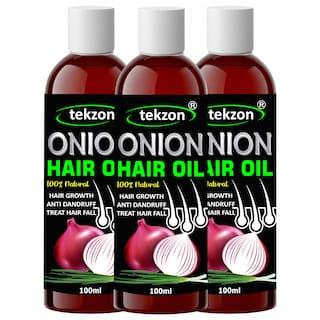 Tekzon Onion Oil For Hair Regrowth & Hair Fall Control Hair Oil (100 ml) (Pack Of 3)