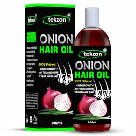 Tekzon Onion Oil For Hair Regrowth;Anti-Dandruff & Hair Fall Control Hair Oil (100 ml)