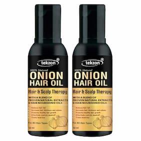 Tekzon Pure Onion Herbal Hair Oil - Blend Of 21 Natural Oils For Hair Oil (50 ml) (Pack Of 2)