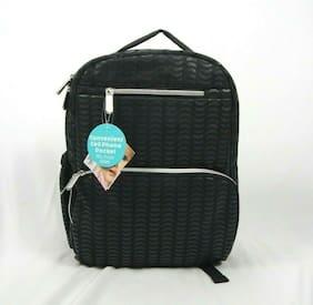 """Tender Kisses Grey Geometric Print Backpack Diaper Bag, 15"""" x 12"""""""