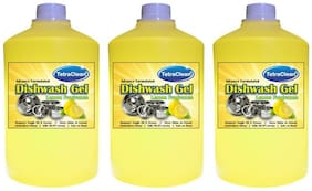 Tetra Clean 3 Dish Cleaning Gel (Lemon) (1 L each Pack) of 3