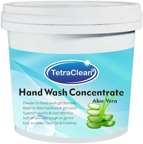Tetra Clean Superior Quality Hand Wash Concentrate Powder for Formulation Hand Wash Gel in Aloe Vera Fragrance (500 g)