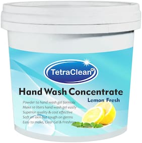 Tetra Clean Superior Quality Hand Wash Concentrate Powder for Formulation Hand Wash Gel in Lemon Fresh (500 g)