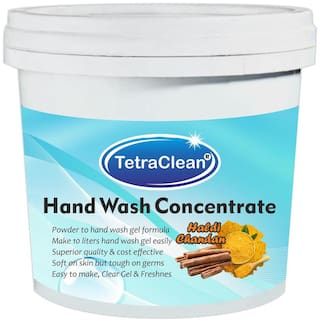 Tetraclean Superior Quality Hand Wash Concentrate Powder for Formulation of 10 L Hand Wash Gel in Haldi & Chandan Fragrance(500 g)