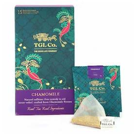 Tgl Co. Chamomile Tea Bags, 32 Tea Bags (30 Tea Bags + 2 Exotic Sample) Tisane Tea |Chamomile Herbal Tea