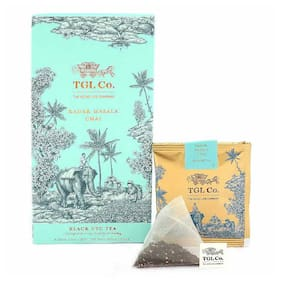 Tgl Co. Kadak Masala Chai Tea Bags, 32 Tea Bags With Black Ctc Tea, Cardamom, Ginger, Cloves, Cinnamon